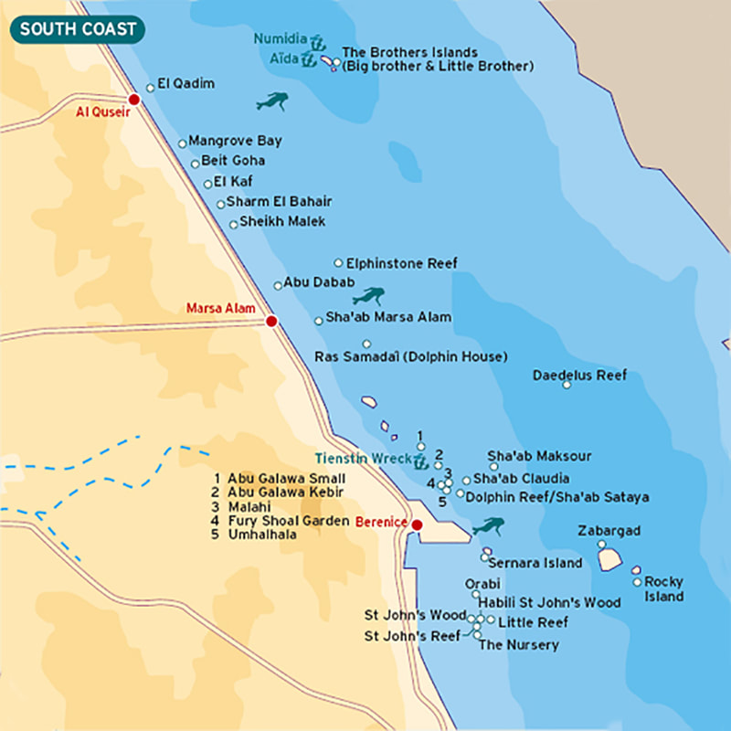 Map of Red Sea dive sites