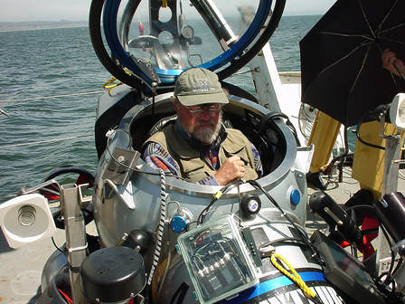 Steve Webster in a Research Submarine